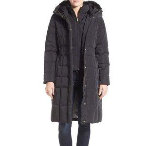 COPY - Cole Haan Puffy Down Zip Front Hooded Coat